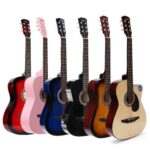 Acoustic Box Guitar With Bag, And Pick 38″ –