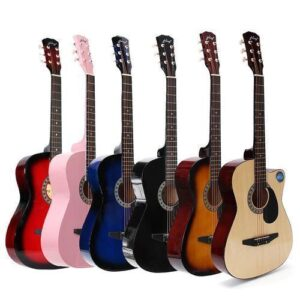 """Acoustic Box Guitar With Bag, And Pick 38"""" - 4 out of 5"""