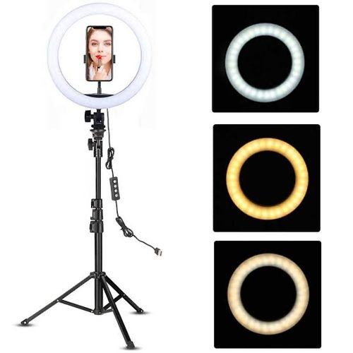 14 Inch Automatic Led Ring Light With Stand And Phone/camera Holder